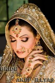 bridal dresses and bridal makeup
