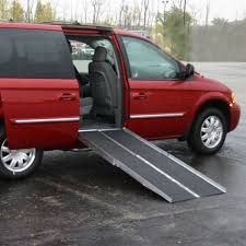 handicap ramps for minivans. wheelchair ramp setup on a minivan handicap ramps for minivans n