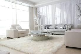 white wool living room rug