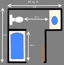 64 square foot bathroom plans