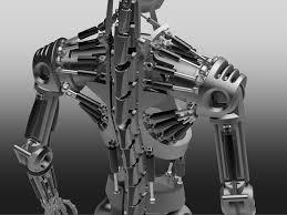 Cad Robot Design Humanoid Robot Skeleton Step Iges Stl Autodesk Inventor