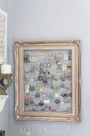 diy wall jewelry organizer from frame by marty s musings