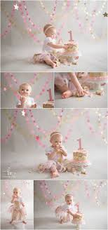 Pink Gold Twinkle Little Star 1st Birthday Cake Smash Its My