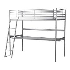 IKEA SVRTA loft bed frame with desk top