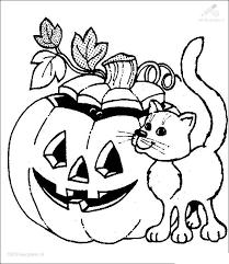 Kleurplaat Seizoen Halloween Kleurplaat Halloween