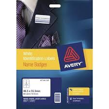 Avery Fabric Name Badge Labels