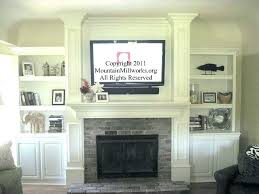 mounting a tv over a fireplace over brick fireplace ideas mounting above brick fireplace the best