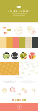 Brand Launch, mood board for the Health/Quartet Nutrition Consulting,  designed by Salted Ink.