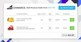 Products Order Form Revamp Your Online Store Using The New Bigcommerce Add On Bulk