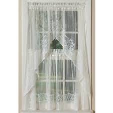 Lace Window Treatments Hydrangea Border Lace Country Style Curtains In Multiple Lengths