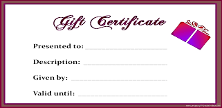 Floral Print Blank Gift Certificate Premade Gift Certificate Gift