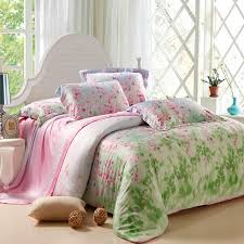 pink and green queen comforter sets lime fairy garden images fl print soft 100 10