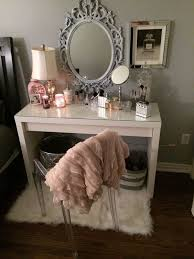 the fur is everything and i love the simplicity of this i also need a ghost chair in my life this parson s desk would also work well to copy this makeup