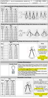 100 Grade Chain Chart Grade 100 Alloy Chain Bridles Multi Leg Bridle Slings