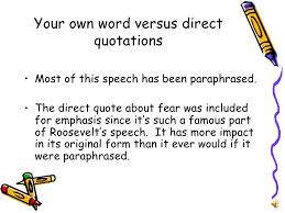 paraphrasing information presentation  8