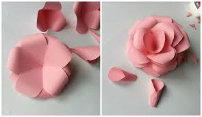 How To Make Flower With Paper Folding Diy Paper Flowers Folding Tricks 5 Steps With Pictures