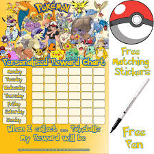 Pokemon Behaviour Chart Pokemon Reward Chart 2019