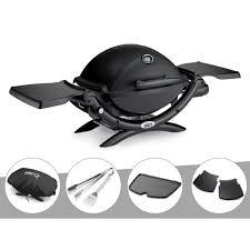 Weber - Barbecue gaz Q 1200 + Housse + Kit Ustensile + Plancha + Plan  travail - pas cher Achat / Vente Barbecues gaz - RueDuCommerce