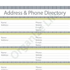 Colorful Telephone Address Book Template Image Collection ...