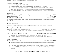 Cover Letter For Cna Resume Phenomenal Sample Resume Cna Nursing Assistant Entry Level For Job 62