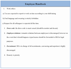 Sample Employee Handbooks 021 Free Employee Handbook Template Beautiful For Sample Of