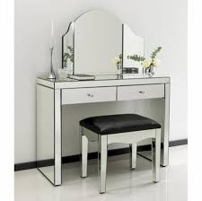 contemporary mirrored furniture. Mirrored Furniture. Tiffany Dressing Table Set Furniture Contemporary