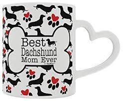 dachshund gifts best daschund mom ever doxie breed weiner dog heart handle gift coffee mug tea
