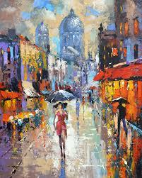 under an umbrella modern art oil painting by dmitry spiros 32x24 80 x 60 cm