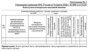 Приказ ФНС об утверждении форм заявления о регистрации контрольно  Приложение №2