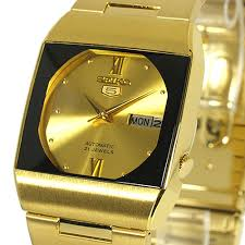 seiko 5 automatic gold casual dress r watch stainless steel seiko 5 automatic gold casual dress r watch stainless steel sny012j1