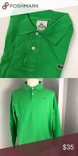 Lacoste Mens Long Sleeve Pique Polo Size 8 Lacoste Polo