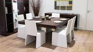 large 8 seater floating dining set glass legged 8 seater dining table and contemporary chairs