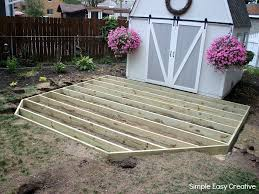 how to build a ground level deck how to build a ground level deck hoosier homemade
