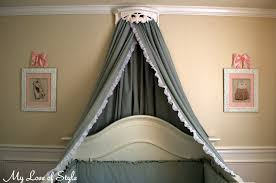 DIY Bed Crown and Crib Canopy Tutorial | My Love of Style – My Love ...