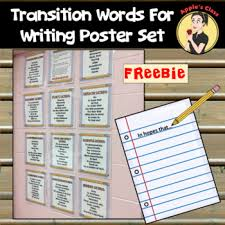 Transition Words Anchor Chart Worksheets Teaching