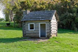 tiny house log cabin. This Is A Replica Of Tiny Log Cabin In Waveland State Historic Site. House