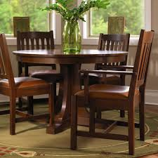 stickley mission oak round pedestal