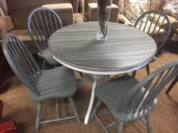 painted solid pine round dining table and chairs free delivery