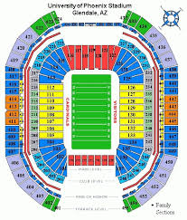 Explanatory Usc Football Seating Chart Fiesta Bowl Stadium