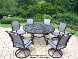 7 pc patio dining set cascade 7 patio dining set round table 105 7 intended