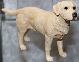 Standing Golden Labrador Dog Figurine ...