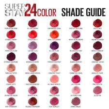 Revlon Lipstick Shades Chart Maybelline Superstay24 Color Lip Color