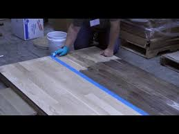 staining a hardwood floor with vinegar and steel wool