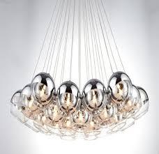 Bubble light chandelier Astounding New Modern Chrome Glass Bubble Ball Led Suspended Light Chandelier Lamp Lights Bedroom Livingroom Amazoncom New Modern Chrome Glass Bubble Ball Led Suspended Light Chandelier