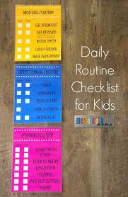 Daily Routine Checklist For Kids