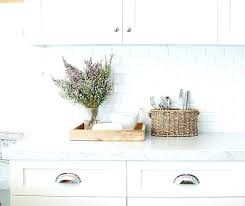 white subway kitchen marble and beveled tile with light grey grout ki
