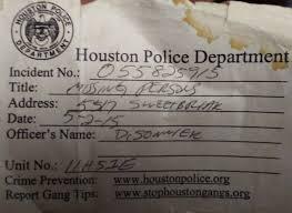 Houston Police Department Incident Report Major Magdalene