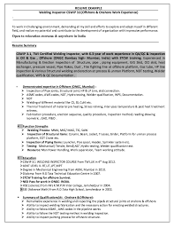 ndt resume samples nde resume of ndt inspector cv example