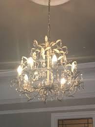 laura ashley 8 light chandelier very good working order stunning
