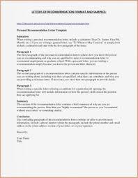 002 Business Letter Recommendation Sensational Format Sample